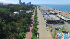 Aerial view of Batumi seafront Stock Footage