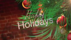 Happy Holiday Christmas background - stock footage