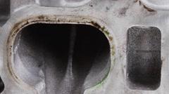 Real used car motor head Stock Footage