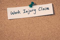 Work injury claim Stock Photos
