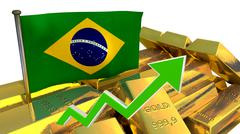 Currency appreciation - Brazilian real Stock Illustration