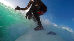 POV Surfing (Slow Motion) Stock Footage