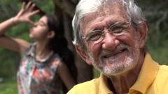 Elderly Old Man Photobomb Stock Footage
