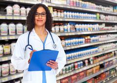 Doctor pharmacist woman. Stock Photos