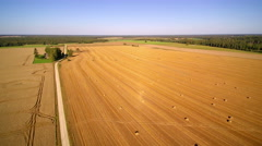 Two big and huge agricultural land in Estonia Stock Footage