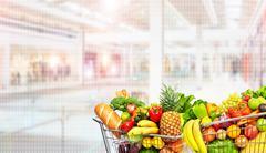 Grocery shopping cart. Kuvituskuvat