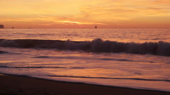 Orange Sunset from Baker Beach Stock Footage