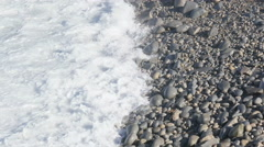 Waves breaking on Pebbly Beach Stock Footage