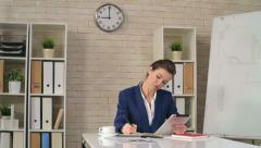 Planning Her Workday - stock footage
