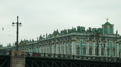 Winter Palace Hermitage Museum in St. Petersburg Russia - stock footage