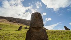 Easter Island - Rano Raraku Stock Footage