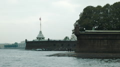 Peter and Paul Fortress view Stock Footage