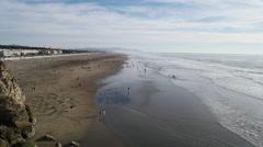 Ocean Beach and Sand Art Stock Footage