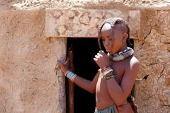 Stock Photo of Unidentified child Himba tribe in Namibia