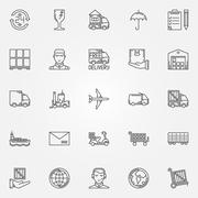 Delivery icons set - stock illustration