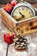 Postcard Christmas time - stock photo