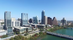 Downtown Austin Day Aerial Stock Footage