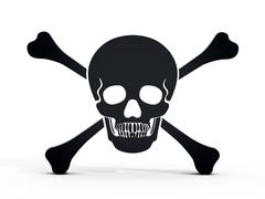 Jolly roger icon Stock Illustration