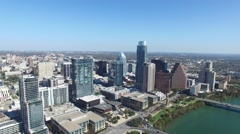 Downtown Austin Day Zoom Out Aerial Stock Footage
