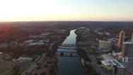 Stock Video Footage of Lady Bird Lake Austin Sunset Aerial