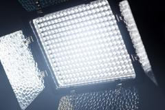 LED lighting equipment for photo and video producti - stock photo