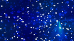 Christmas snowfall seamless loop Stock Footage