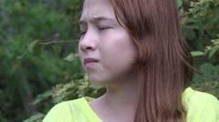Fearful Teenage Girl Stock Footage