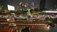 Night rush in Jakarta Stock Footage