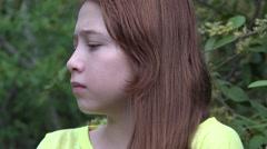 Nervous Teenage Girl Stock Footage