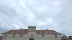 Citadel of The Guard on a cloudy autumn day, Brasov Stock Footage