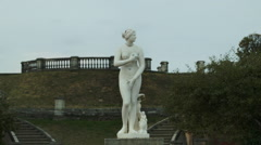 Statue of Venus in Peterhof Russia - stock footage