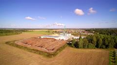 A pellet factory in Ebavere Estonia Stock Footage