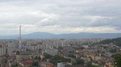 Panoramic view over Brasov Stock Footage