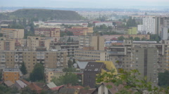 Blocks of flats and houses seen from above, Brasov Stock Footage