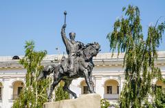 Equestrian of Petro Konashevych-Sahaidachny - stock photo