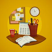 Stock Illustration of Workplace Design Concept Set