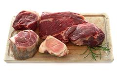 group of meat for Pot-au-feu - stock photo