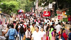 SarojIni Nagar Market, Delhi, Shopping, People, Crowd, Timelapse Stock Footage