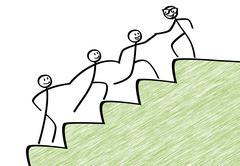 Team work for success - stock illustration