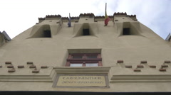 Citadel of The Guard main facade, Brasov Stock Footage