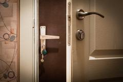 Double Door at Home Stock Photos
