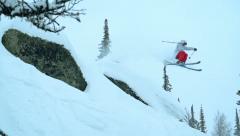 Ski Stunt Stock Footage