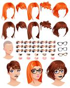 Fashion female avatars - stock illustration