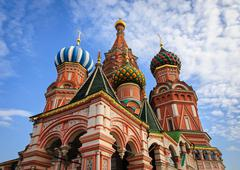The Cathedral of Vasily the Blessed in Red Square, Moscow, Russia Stock Photos
