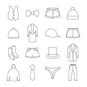 Icons clothes, vector illustration. Stock Illustration