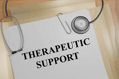 Therapeutic Support concept Stock Illustration