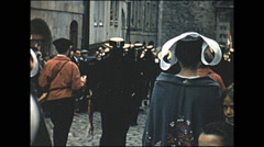 Vintage 16mm film, 1960, France, Lorient Festival, dancing Stock Footage
