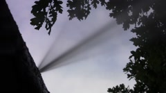 Powerful jet of water flowing from a broken metal duct 22 - stock footage