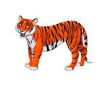 Stock Illustration of Red cartoon tiger
