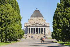 Shrine of Remembrance in Melbourne Stock Photos